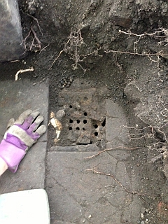 Drain in coal store area